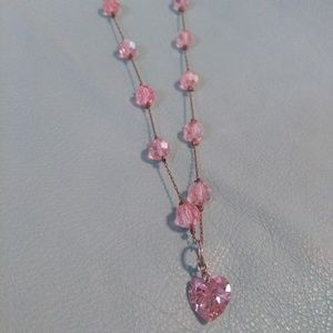 A Real Pretty Pink Bead and Pink Swarovski Crystal
